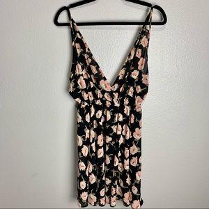 Audrey 3+1 Black Floral Mini Dress